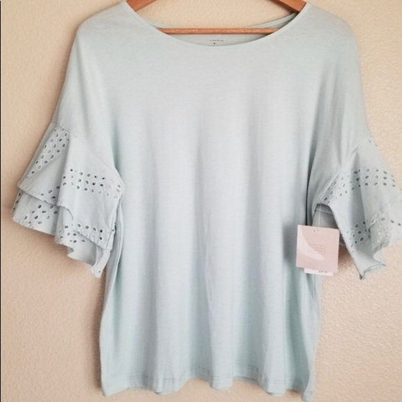 7bceb3414ef Lovely tiered ruffle sleeve top